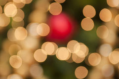 Defocused christmas decoration light Royalty Free Stock Photo