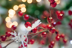 Defocused Christmas decoration. Royalty Free Stock Images