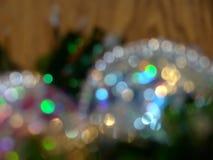 Defocused Christmas decorations Stock Photography