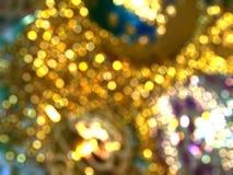 Defocused Christmas decorations Stock Photo