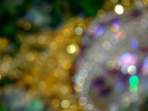 Defocused Christmas decorations Stock Photos