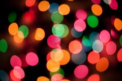 Defocused christmas light background Royalty Free Stock Image