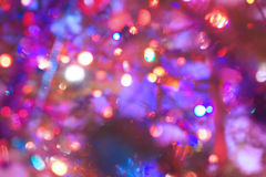 Defocused Christmas light 2. Defocused Christmas tree light background Stock Image