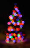 Defocused Christmas Lights Royalty Free Stock Photos