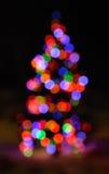 Defocused Christmas Lights. Colorful Defocused Christmas Lights of Tree Royalty Free Stock Photos