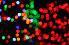 Defocused Christmas Lights. Colorful Defocused Christmas Lights for a Background Royalty Free Stock Photo
