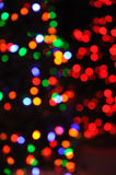 Defocused Christmas Lights Royalty Free Stock Photography