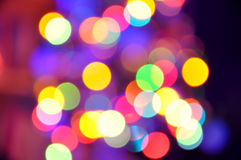Defocused Christmas Lights Abstract Background. Abstract Background of a Christmas Lights Stock Photography
