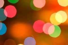 Defocused Christmas lights background Royalty Free Stock Photos