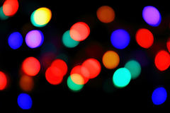 Defocused christmas lights background Royalty Free Stock Photos