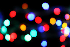 Defocused christmas lights background Royalty Free Stock Photography