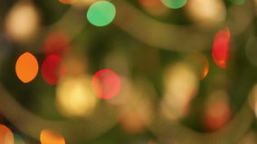 Defocused christmas lights background stock footage