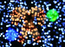 Defocused christmas lights background Royalty Free Stock Photo
