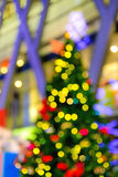 Defocused christmas lights background Royalty Free Stock Images