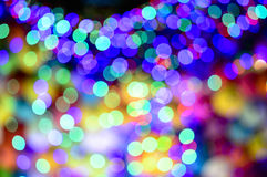 Defocused christmas lights background Stock Photos