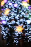 Defocused christmas lights background Stock Photography