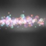 Defocused christmas lights background. EPS 10 Royalty Free Stock Photos