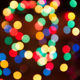 Defocused christmas lights Stock Photo