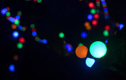 Defocused christmas lights background Stock Images