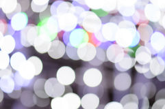 Defocused christmas Lights Bokeh background Royalty Free Stock Photo