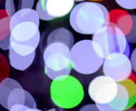 Defocused christmas Lights Bokeh Stock Image