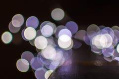 Defocused Christmas lights Stock Photos