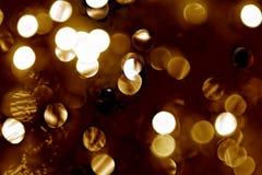 Defocused christmas lights Stock Photo