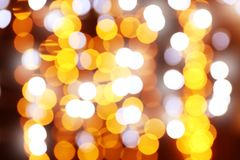 Defocused Christmas lights. As background Royalty Free Stock Image