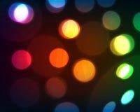 Defocused christmas lights Stock Image