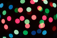 Defocused christmas lights Royalty Free Stock Image
