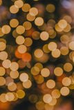 Defocused Christmas Lights. Defocused christmas tree lights background Royalty Free Stock Images