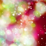 Defocused christmas lights Royalty Free Stock Images