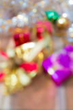 Defocused Christmas and New Year gift box abstract blurred Royalty Free Stock Photos