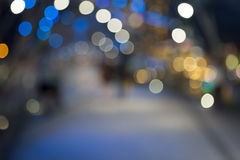 Defocused christmas sreet Royalty Free Stock Image