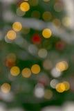 Defocused christmas tree. Beautiful defocused christmas tree, bokeh effect Royalty Free Stock Image