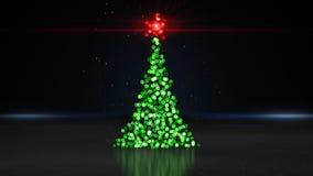 Defocused christmas tree bokeh lights Royalty Free Stock Photography
