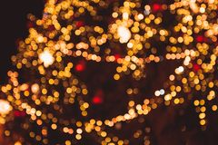 Defocused Christmas tree Stock Image