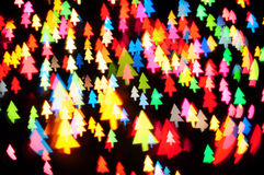 Defocused of christmas tree shape Stock Photography