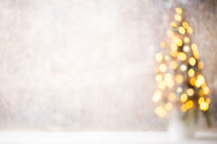 Free Defocused Christmas Tree Silhouette With Blurred Lights. Stock Images - 78979064