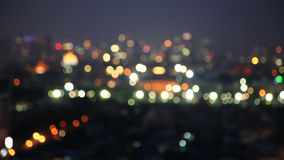 Defocused City light blur bokeh Stock Image