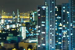 Defocused city light Stock Images