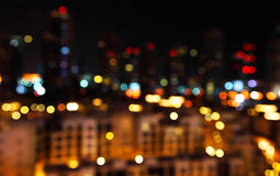 Defocused city lights Royalty Free Stock Photos