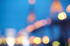 Defocused city lights Stock Images