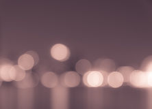 Defocused city lights bokeh background Stock Photography