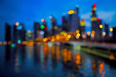 Defocused city lights Royalty Free Stock Images