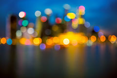 Defocused city lights Stock Image