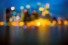Defocused city lights Stock Image