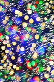 Defocused city lights with snowfall effect. abstract shiny backg Stock Photography
