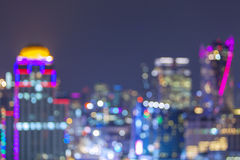Defocused city night bokeh abstract background. royalty free stock images