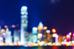 Defocused of cityscape in Hong Kong Royalty Free Stock Photography